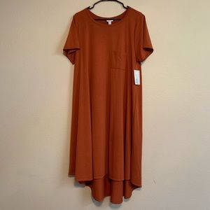 LuLaRoe Rust Carly Dress